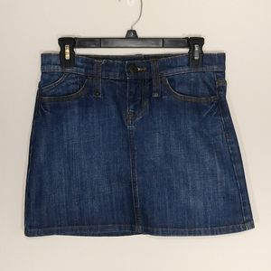 GAP Factory Denim Mini Skirt Medium Wash Size 2